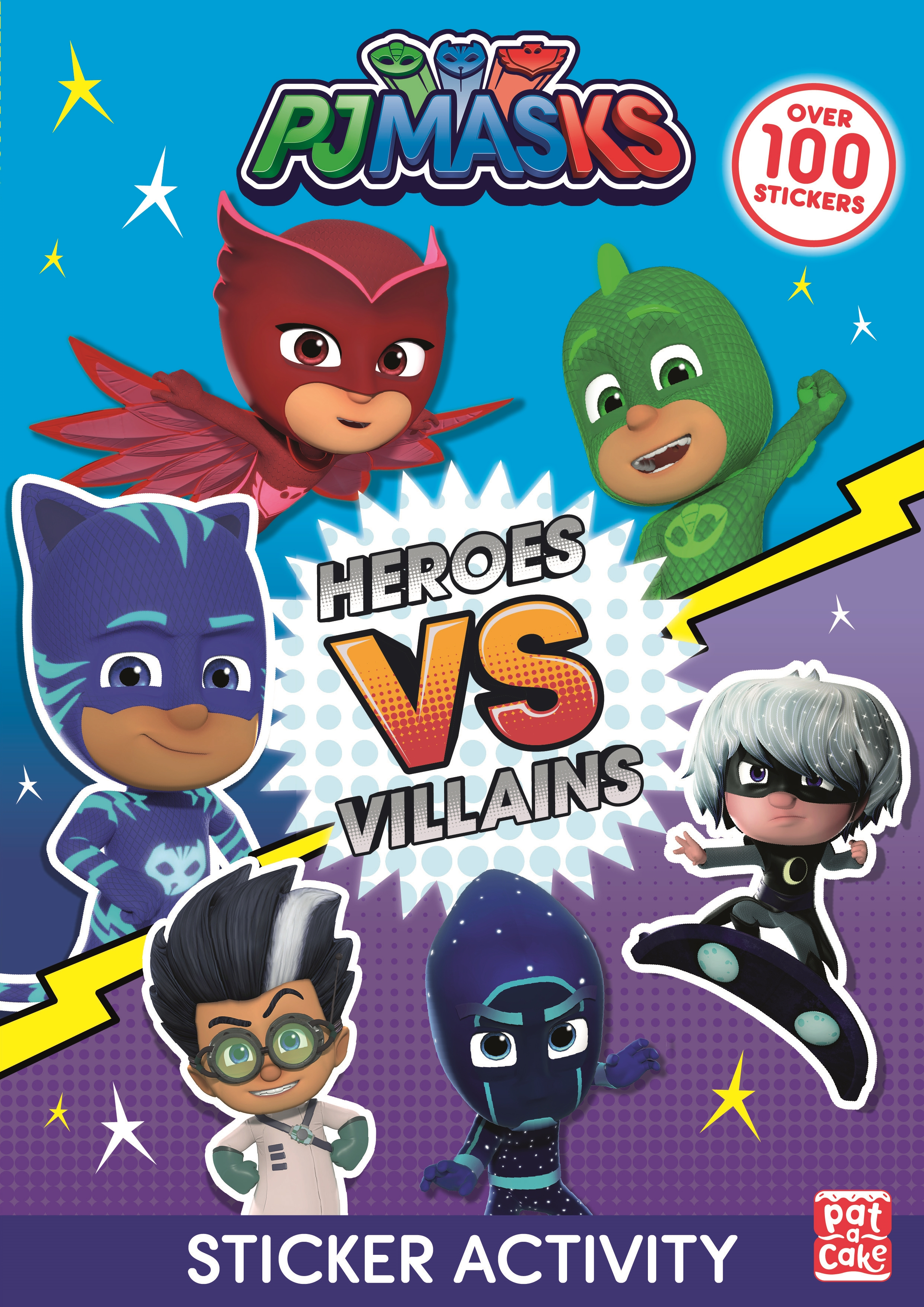 PJ Masks 40 Big Stickers for Tiny Hands Fold Out Scene Book Ages 3-5